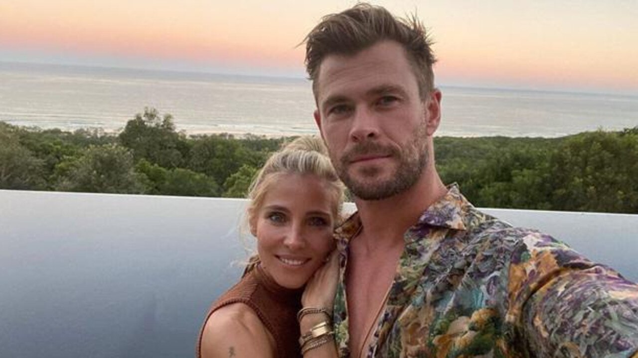 Elsa Pataky recently posted this photo on Instagram of herself and Chris Hemsworth at what looks to be the pool at their new home in Broken Head. Source: Instagram.