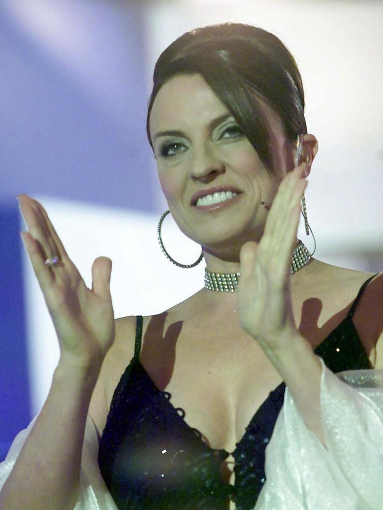 Gretel Killeen hosting Celebrity Big Brother.