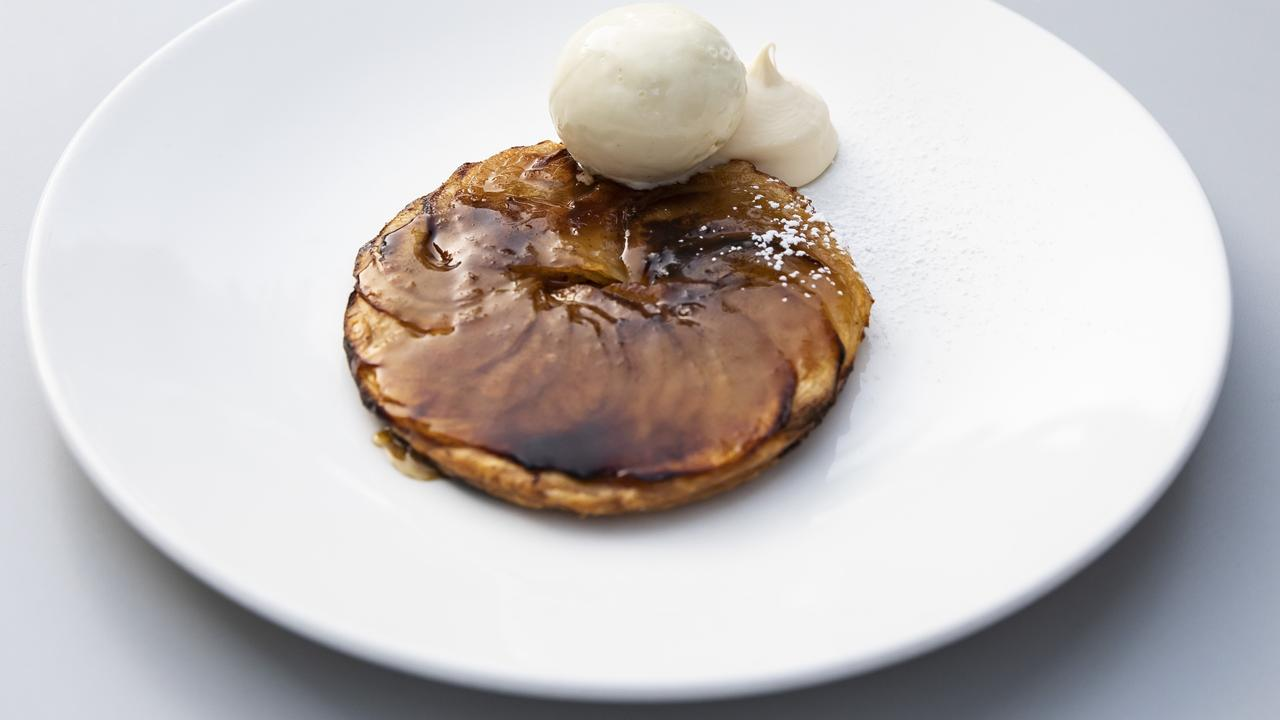 Harveys' fine apple tart. Picture: Mark Cranitch.