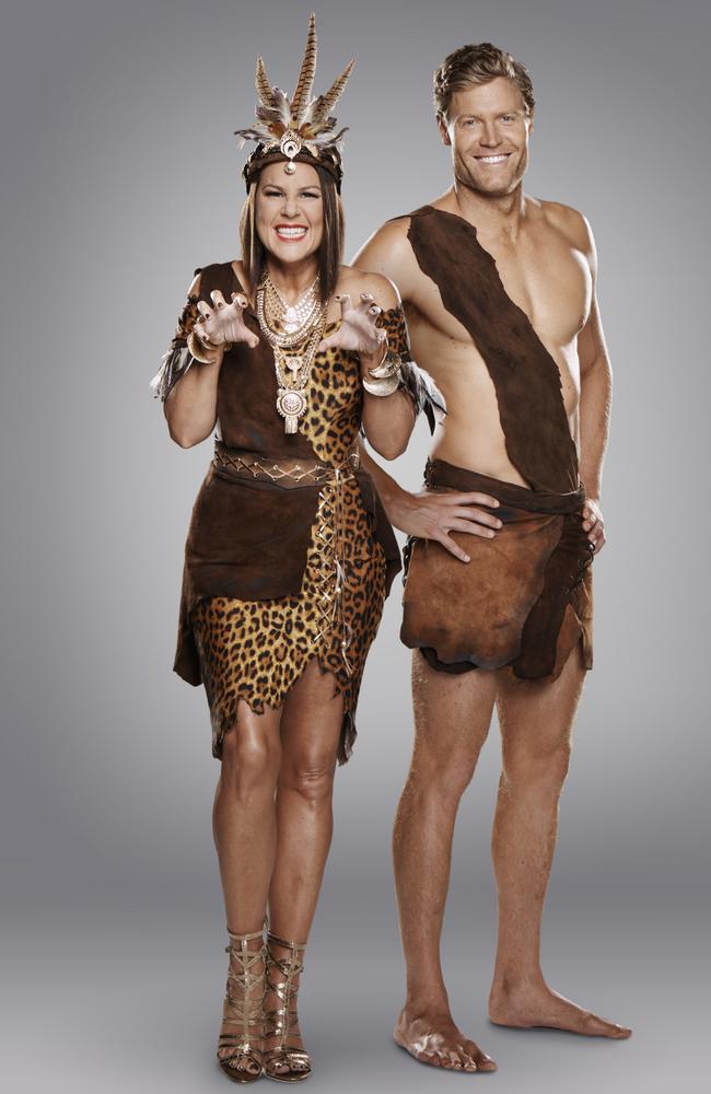 Chris Brown and Julia Morris