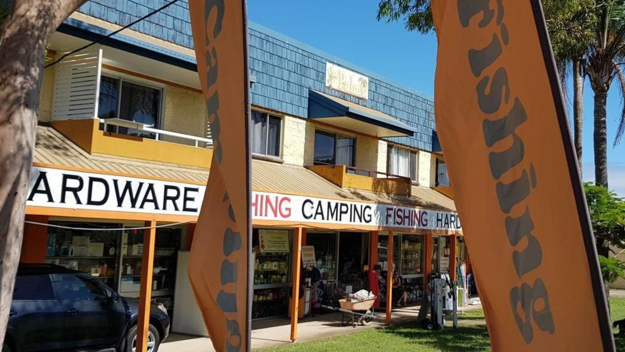 The iconic Rainbow Beach Hardware Fishing and Camping store is for sale as the long-time owners retire.