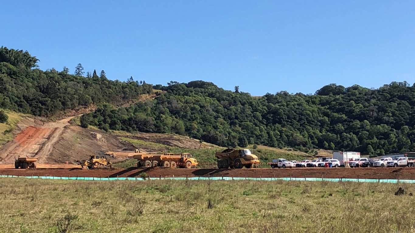 Work is under way on the North Lismore Plateau development.