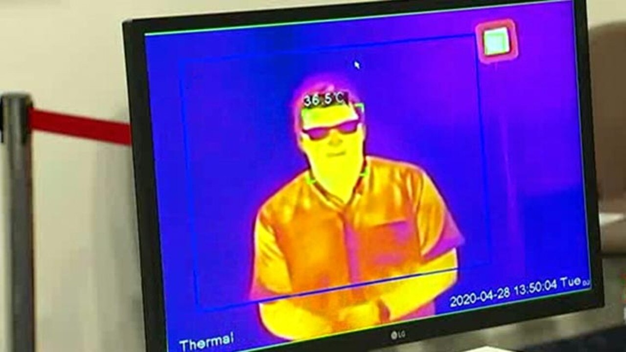 St Stephen's Hospital in Hervey Bay has installed thermal imaging cameras