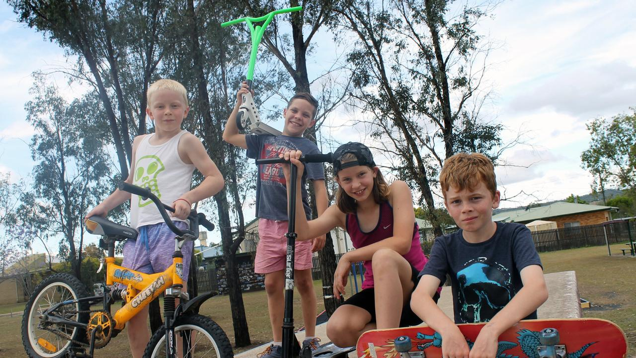 XTREME SPORTS: Jordan Kielly, Charlie Martin, Alex Kielly and Nathan Hanley love to hang out at the skate park and learn new tricks. Picture: Anastassia Perets