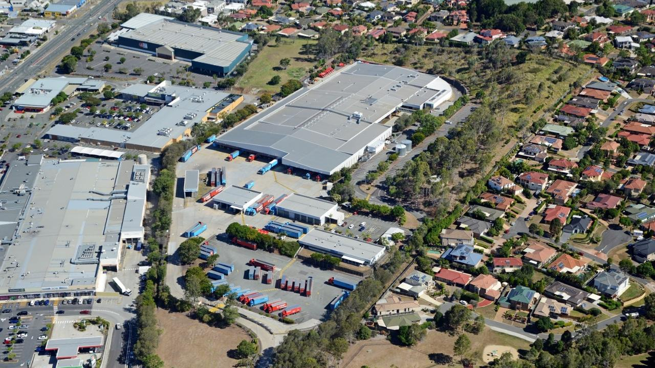 Aerial view of the former Australia Post distribution centre site at Underwood.