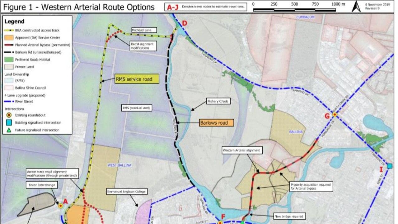 Western arterial road options