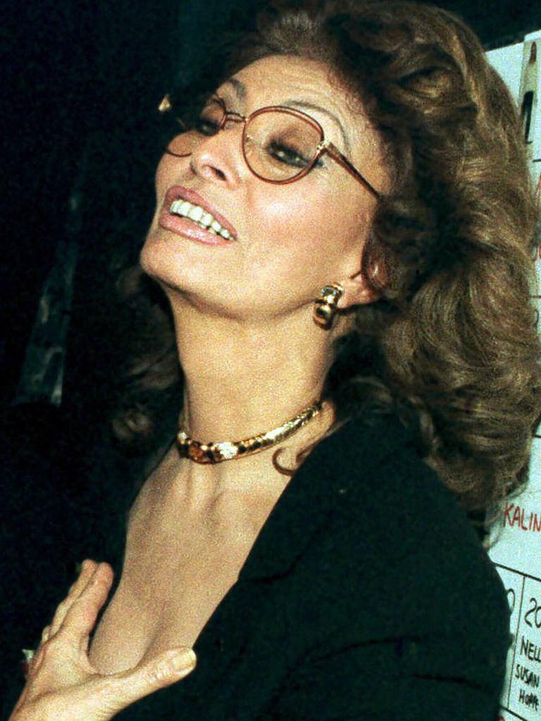 "Screen icon Sophia Loren was the ""least impressive"" celebrity Lisa's interviewed. Picture: AP Photo."