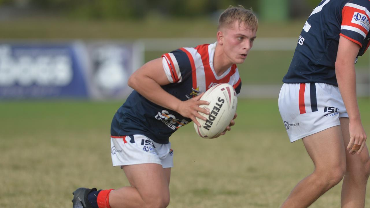St Patrick's College's Toby Thorburn in the competition against Saint Brendan's in the 2019 Aaron Payne Cup at Mackay's Junior Rugby League Fields.