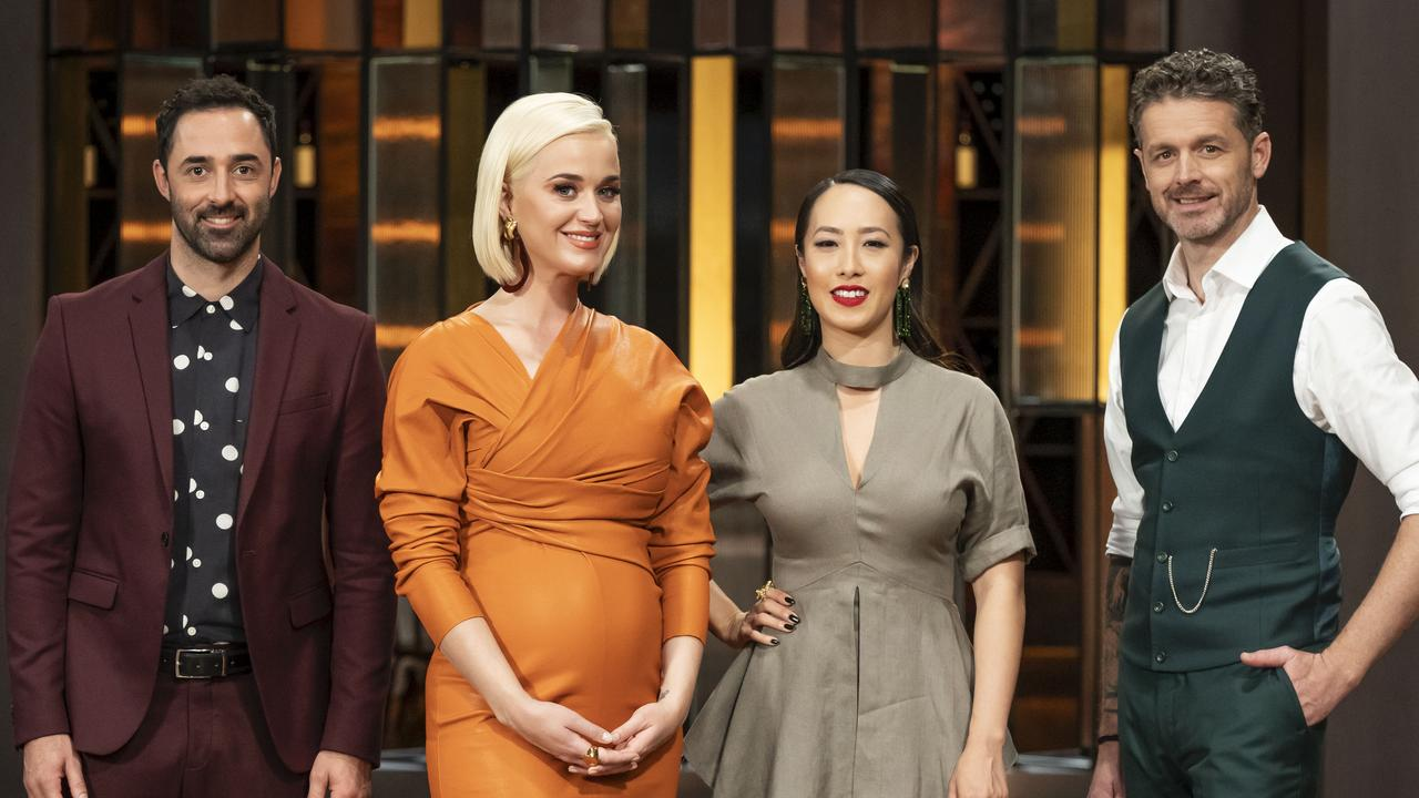 The new MasterChef judges with Katy Perry.