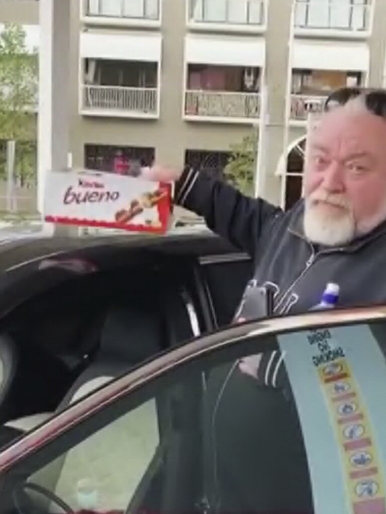 Kyle Sandilands with his Bueno haul.