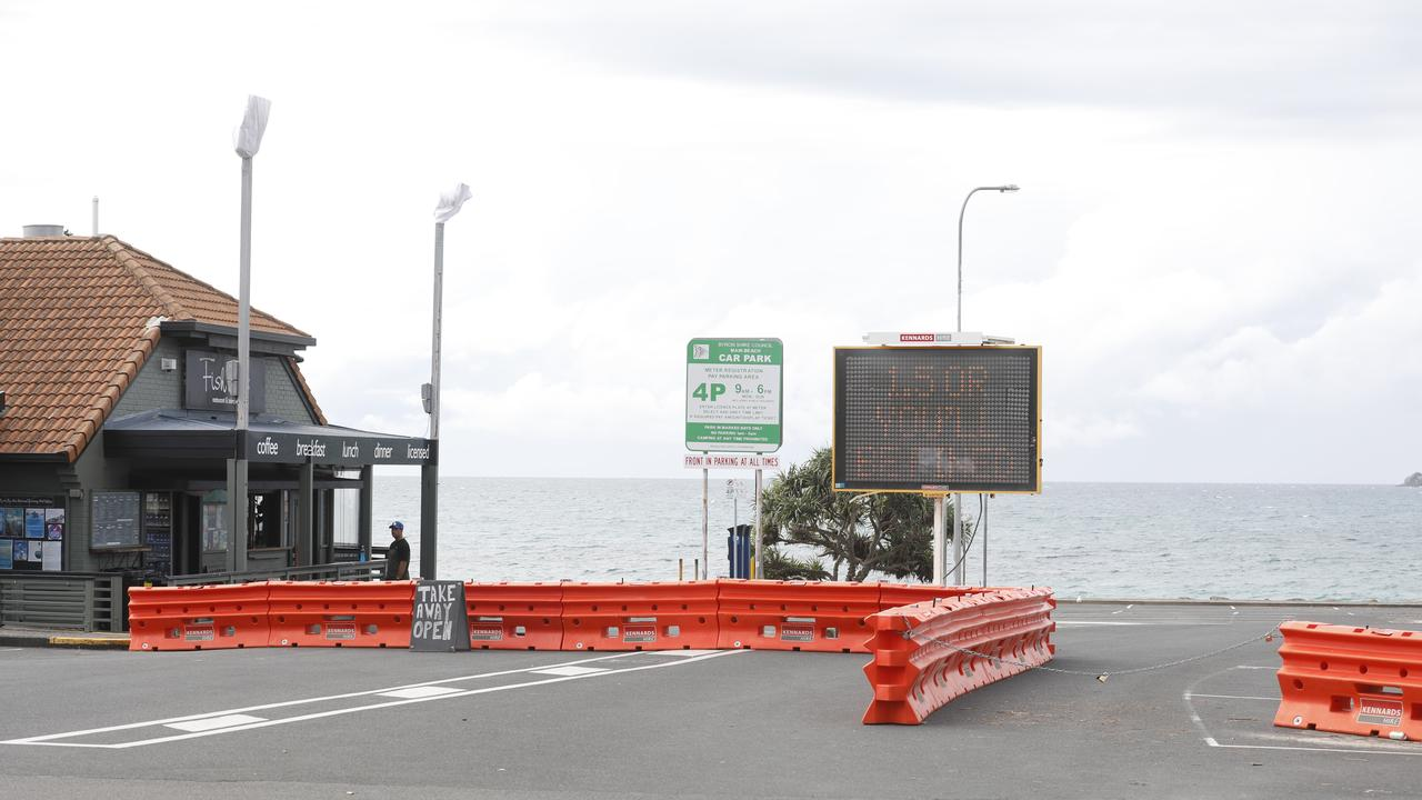 Byron Shire Council won't yet reopen the Main Beach carpark.