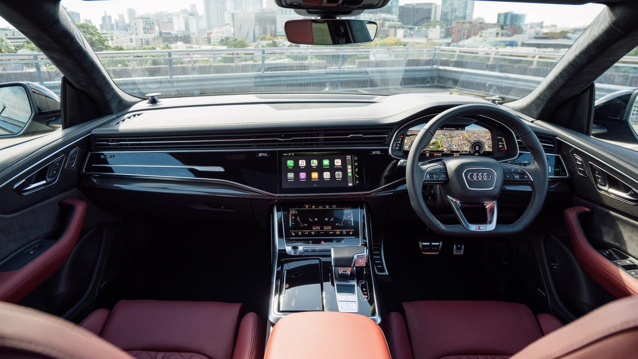Audi's interior is slick and pack full of hi-tech features.