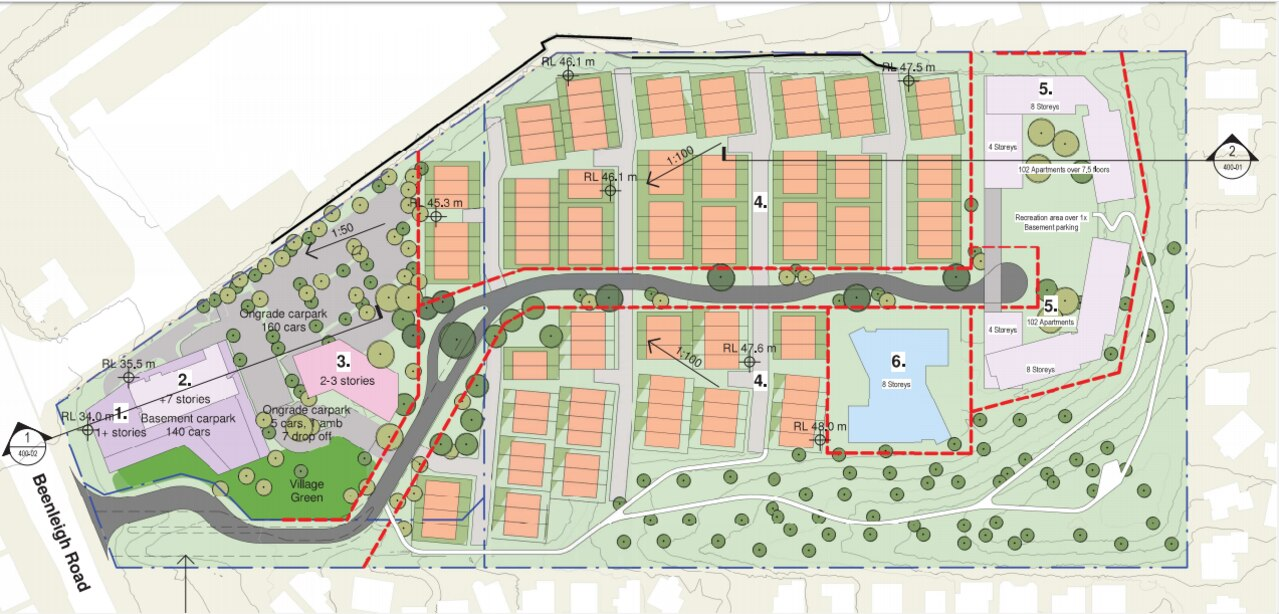 Masterplan for redevelopment of former Australia Post distribution centre site at Underwood.