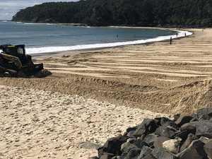 Work to 're-profile' Noosa's eroded beach underway