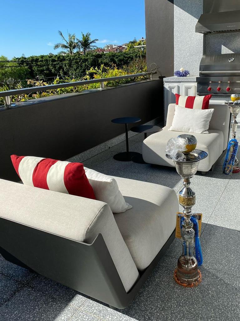 Shisha on the balcony.