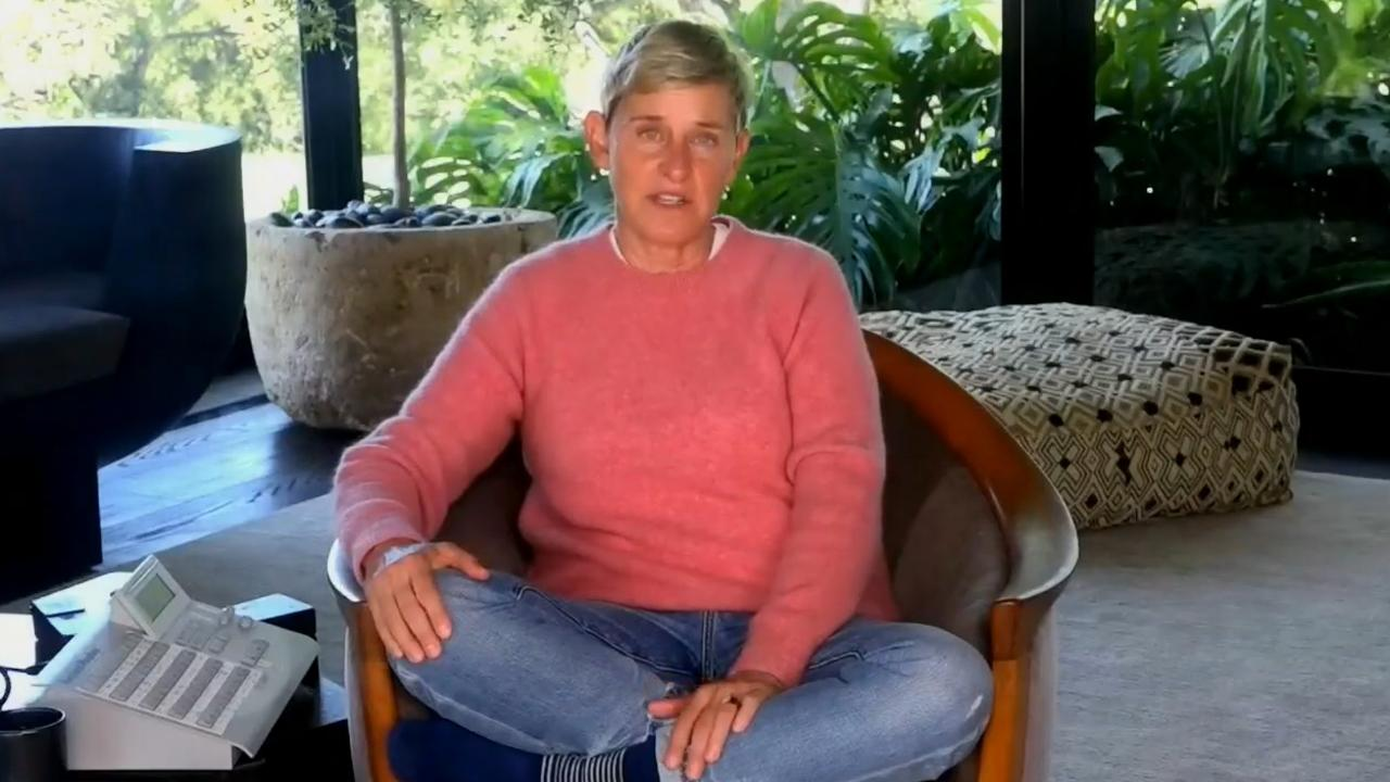 DeGeneres has been broadcasting from home during isolation. Picture: YouTube