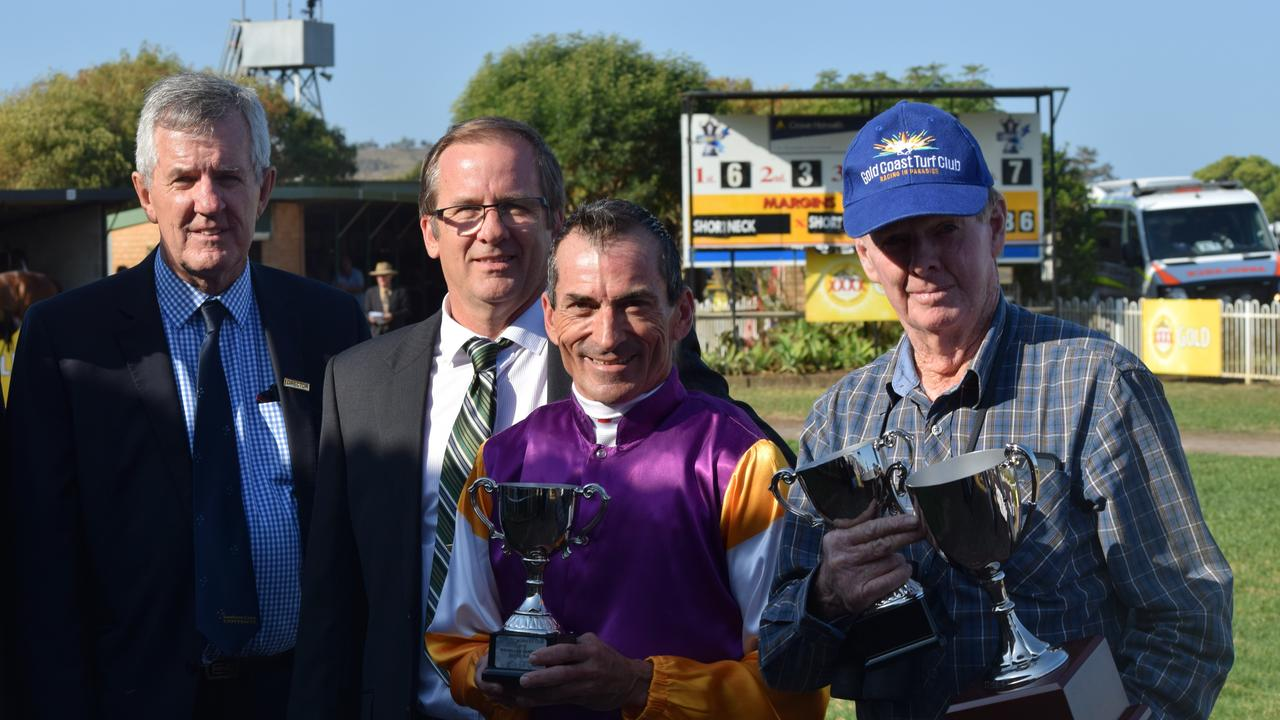 Lismore Turf Club chairman Mark Oaten (second from left)