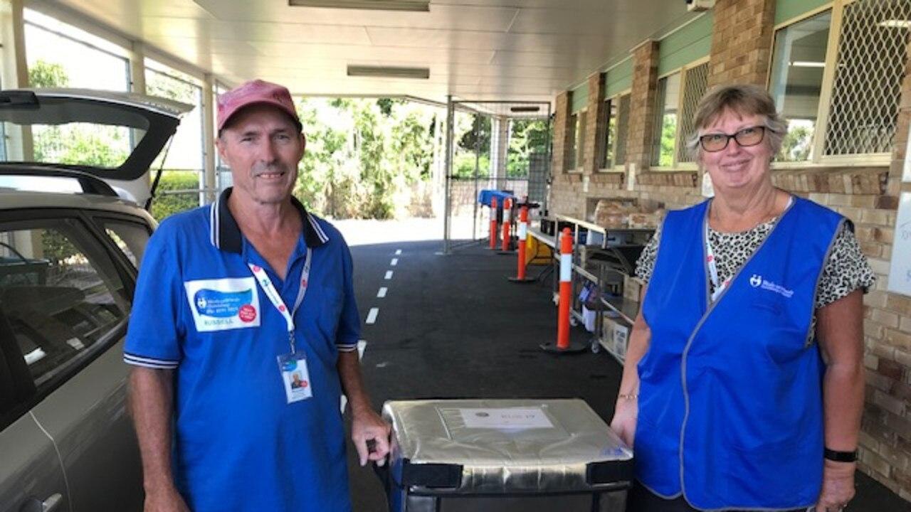 Bundaberg Meals on Wheels volunteers Russell and Dot.