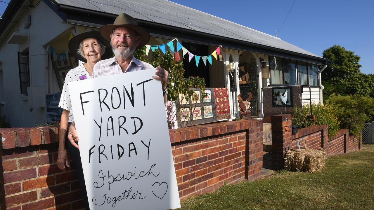 Les and Marion Retschlag from Tivoli took part in Front Yard Friday.