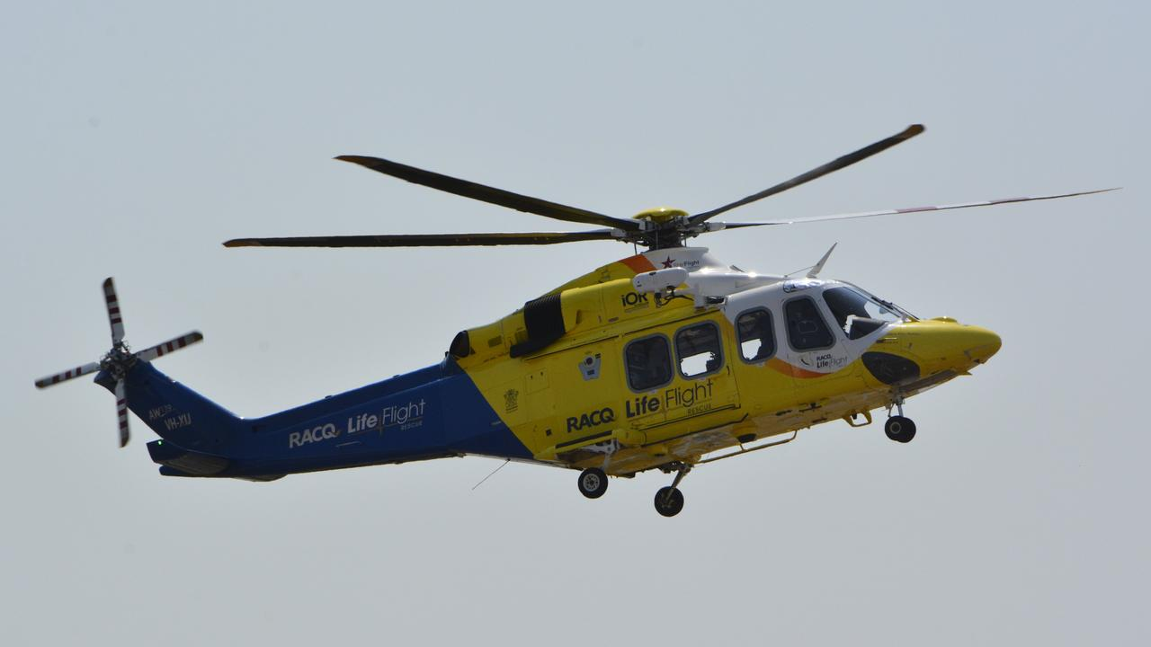 A LifeFlight Helicopter airlifted the man from the private South Burnett property. (Photo: FILE)