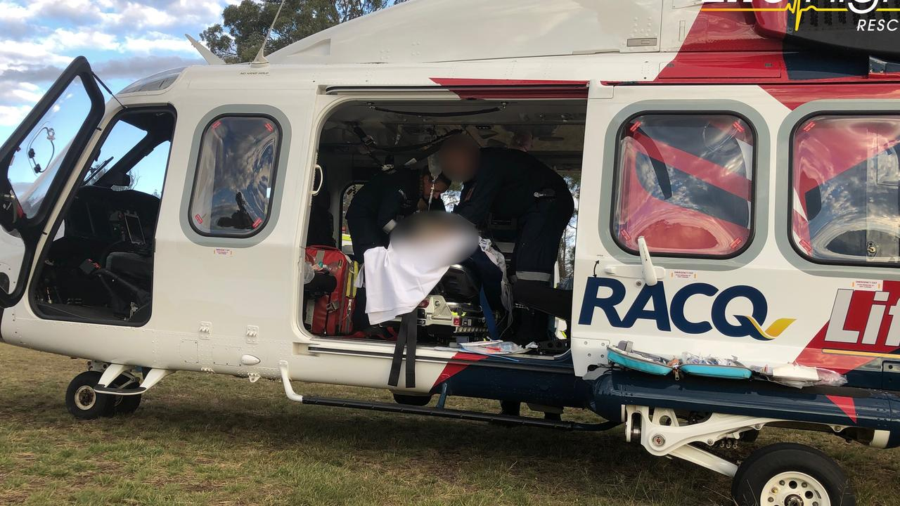 HORSE RIDING: A teenage girl was airlifted in a critical condition after falling off a horse at a Pimpimbudgee farm in the South Burnett. (Photo: Lifeflight)
