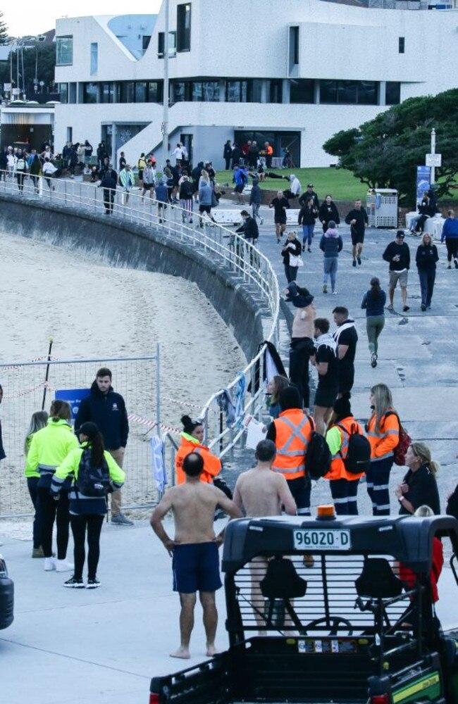 People at Sydney's Bondi Beach on Friday.