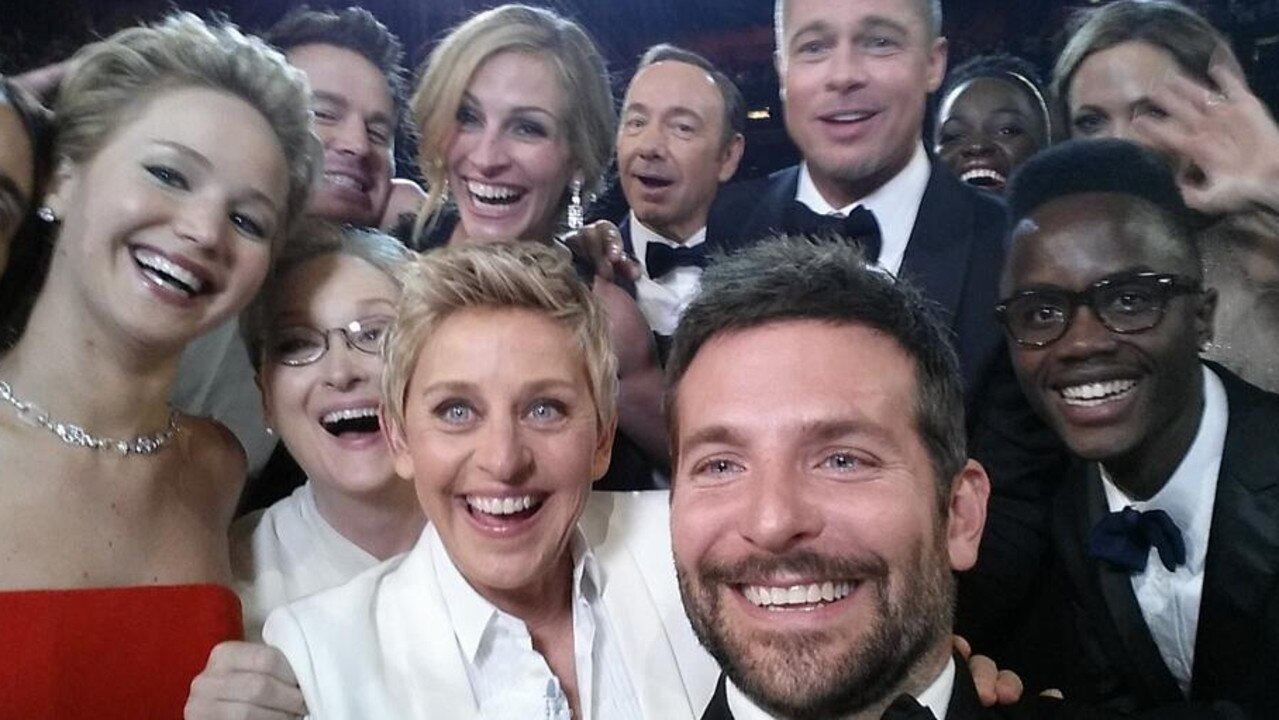 DeGeneres hosted the 2014 Oscars, where this star-studded selfie was taken. Picture: Ellen DeGeneres/Twitter