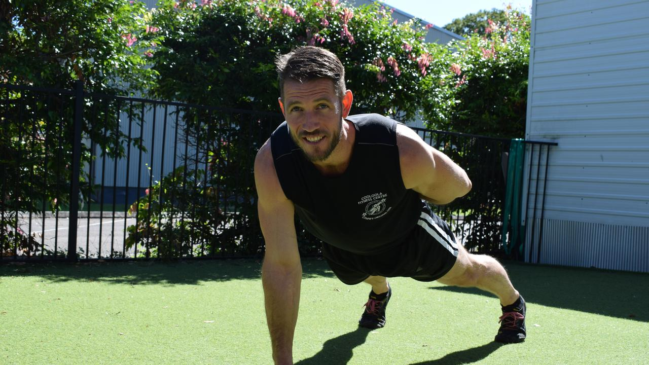 Cooloola Coast Fitness Centre owner and head trainer Matt Stallmann has a 21 day program which uses your body weight or even everyday object such as a backpack filled with any object from the house for extra weight.