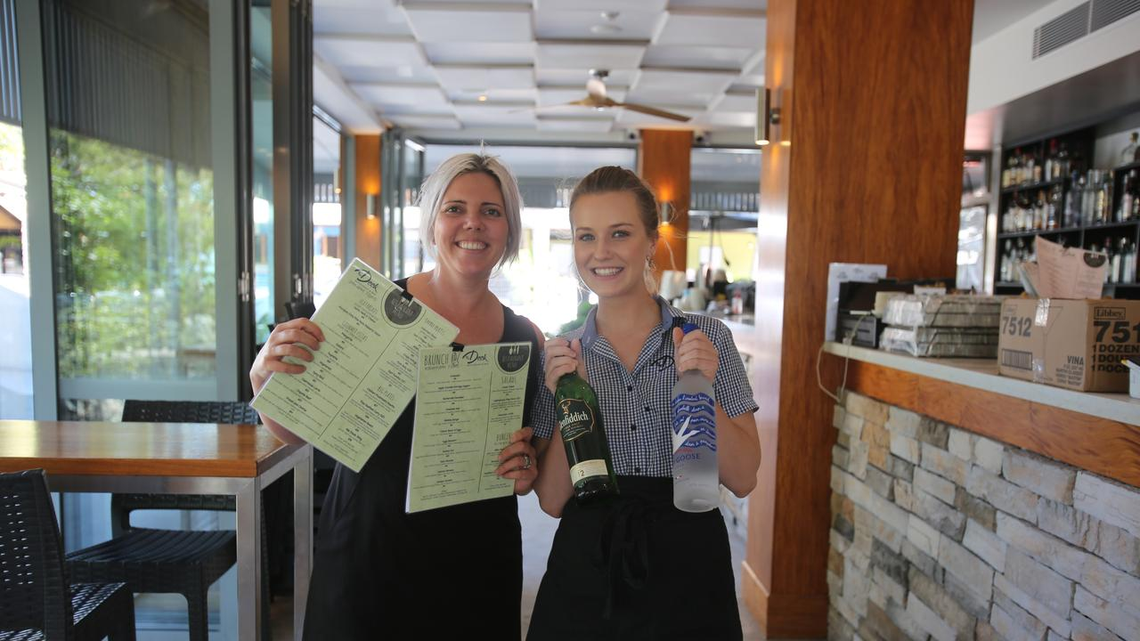 The Deck owner Jane Lange and Eryn Henwood were ecstatic to welcome customers to dine-in again.