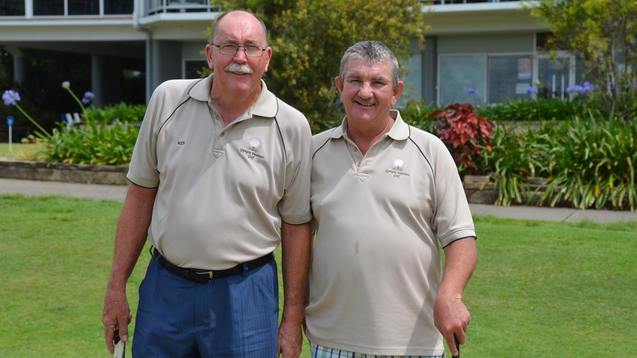 RARING TO GO: Gympie Vets President Ken Burford and Vets Captain Andrew Towning are keen for the club's first stroke event under coronavirus restrictions. Picture: Contributed