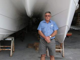 Noosa Cats managing director Wayne Hennig at his Noosaville boat building factory.