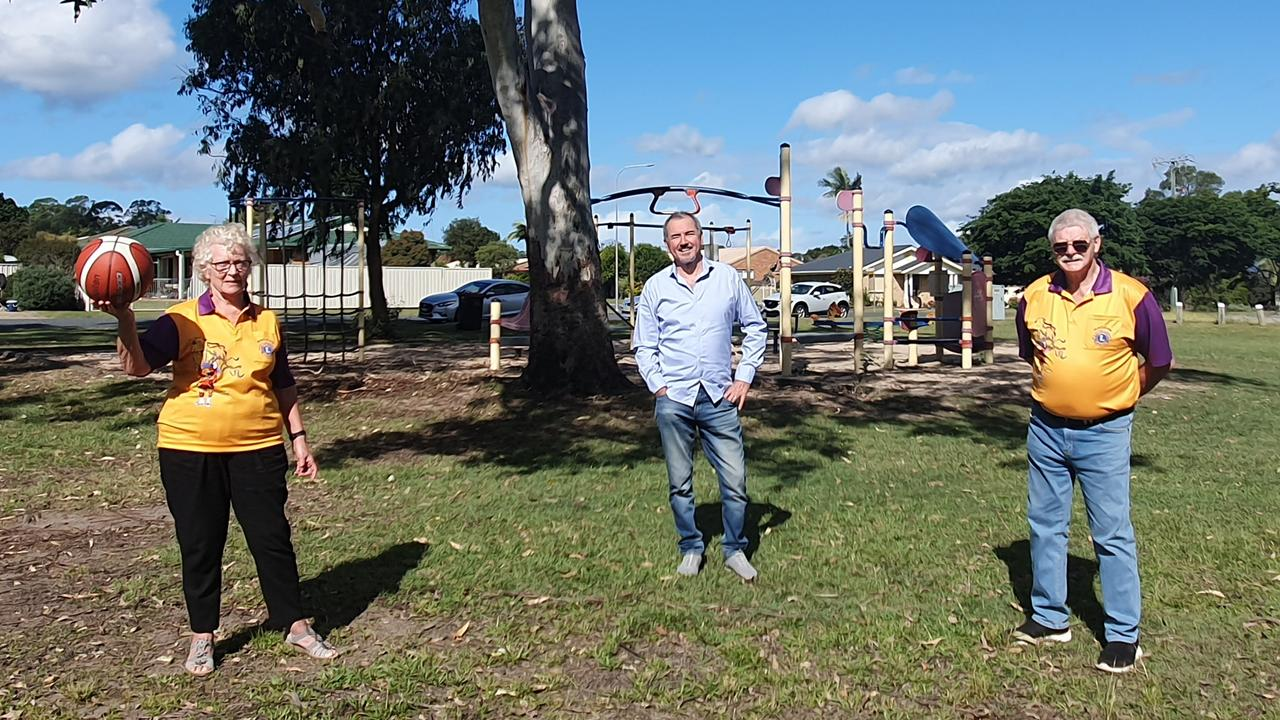 Clarence MP Chris Gulaptis onsite at the Townsend Lions Park with current President of Maclean Lions Club Robin Parker and Secretary Alan Cunningham. The park is located next to the Townsend General Store.