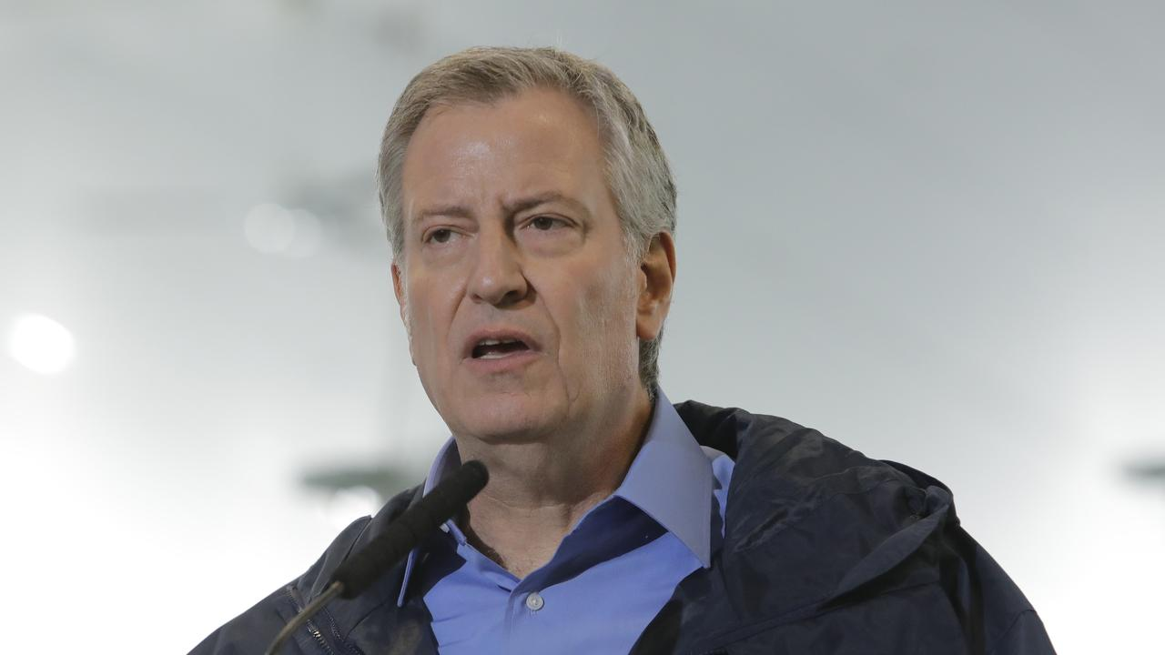 New York Mayor Bill de Blasio reveals young boys at most at risk of contracting new Kawasaki-like illness. Picture: AP/Frank Franklin II.