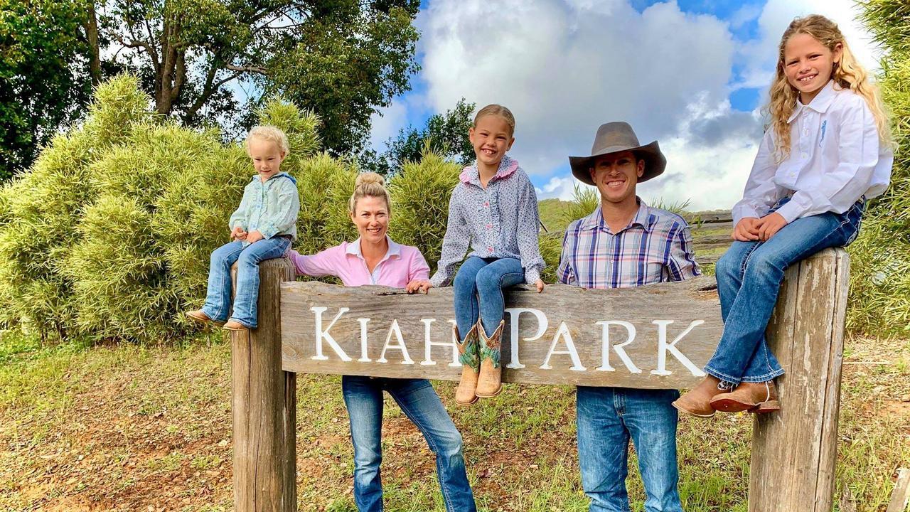 The Keough family – Kennedi, Jodi, Bobbi-Tyla, Laine and Kodi-Laine are the new faces of the Kiah Park Horse Riding Camp.