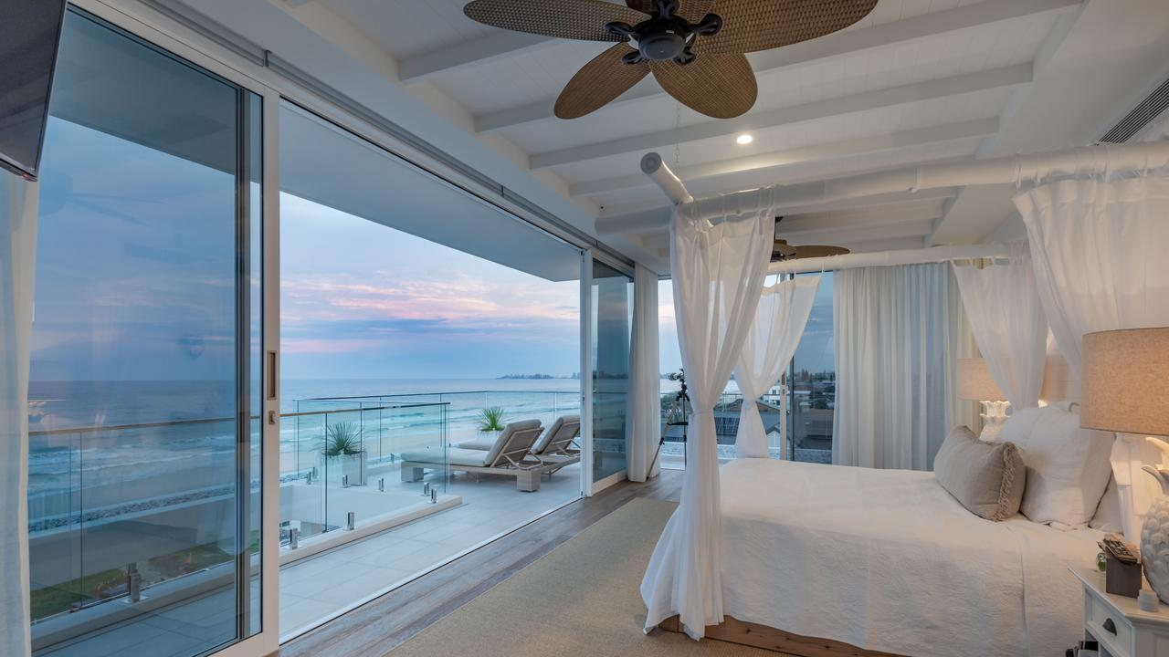 The bedroom offers views from Surfers Paradise to Snapper Rocks.