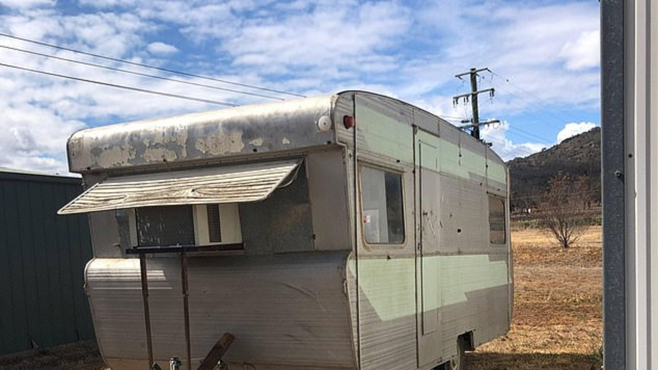 Zoe Crain took this run-down old van she found on Facebook Marketplace and turned it into the mobile coffee van of her dreams. Picture: Zoe Crain.
