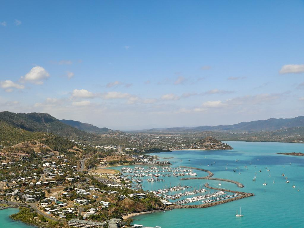 Rental vacancy rates at tourism hotspots like the Whitsundays (pictured) and Cairns have increased.