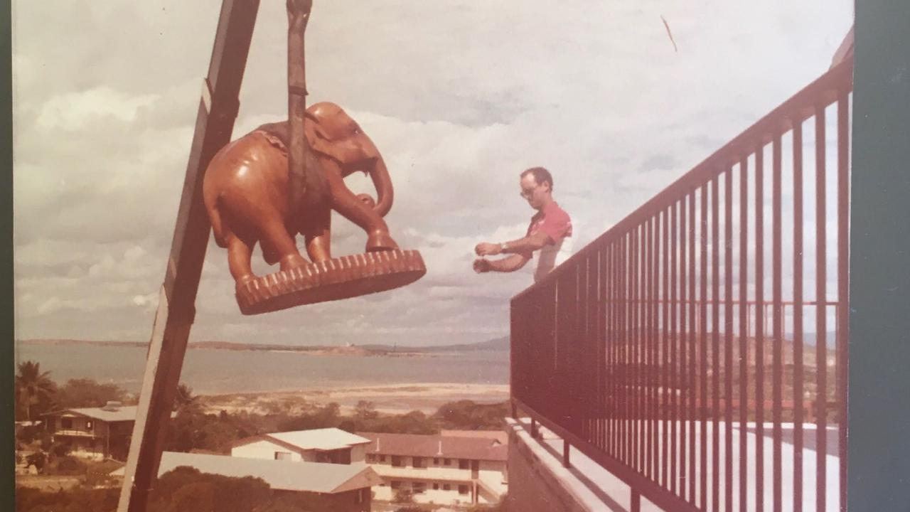 Ellie the Elephant was craned into her new home at Bowen in 1984.