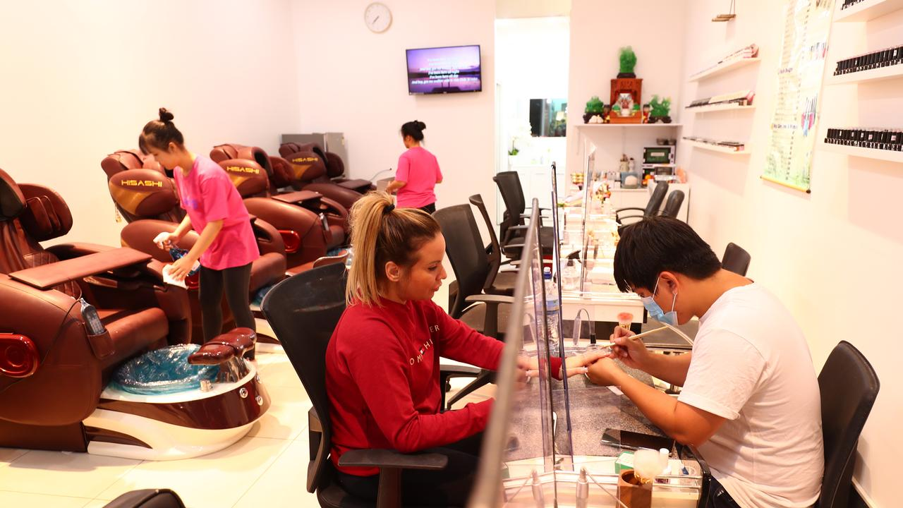 Jade Nail in Surfers Paradise was back in business over the weekend. (Chris Hyde/Getty Images)