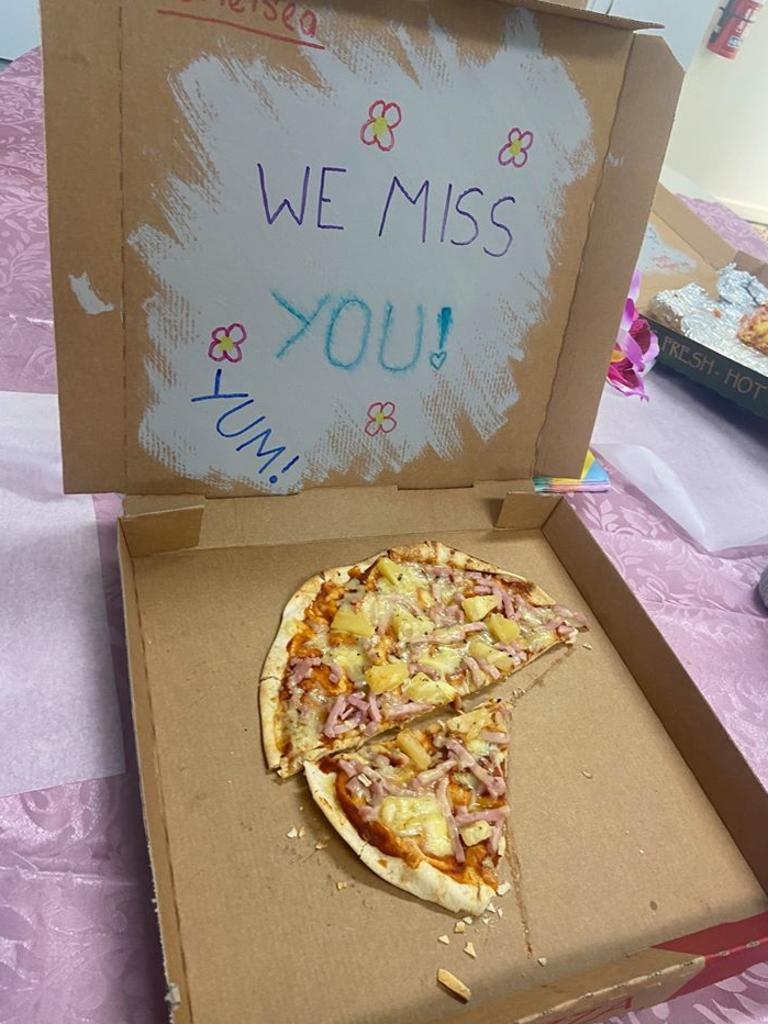 Seaforth State School staff have been receiving food deliveries from parents and the community such as homemade pizza. Picture: Contributed