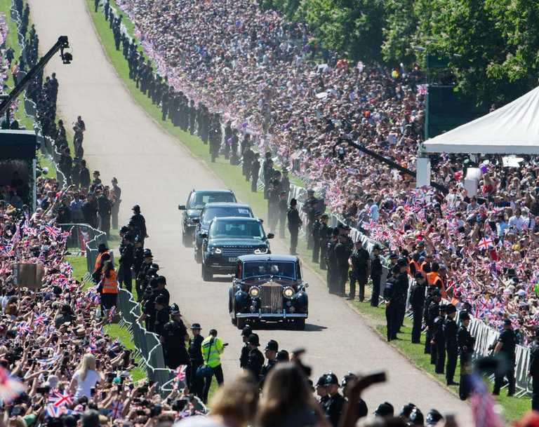 It's unlikely Harry and Meghan would draw the same crowds today as they did two short years ago for their fairytale wedding. Picture: Pool/Samir Hussein/WireImage)