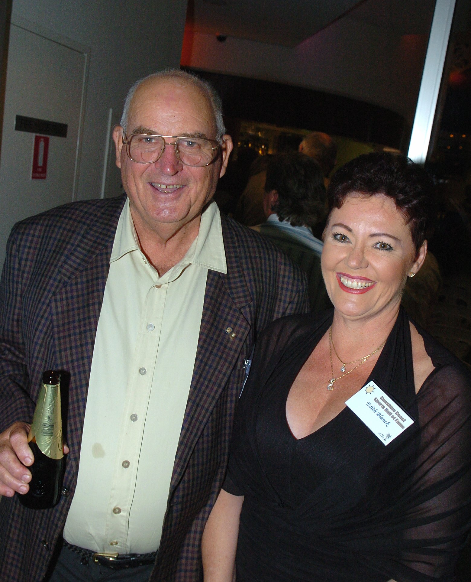 John Blanck received a certificate of merit in the Sunshine Coast Sports Hall of Fame and was congratulated by his wife Edith.