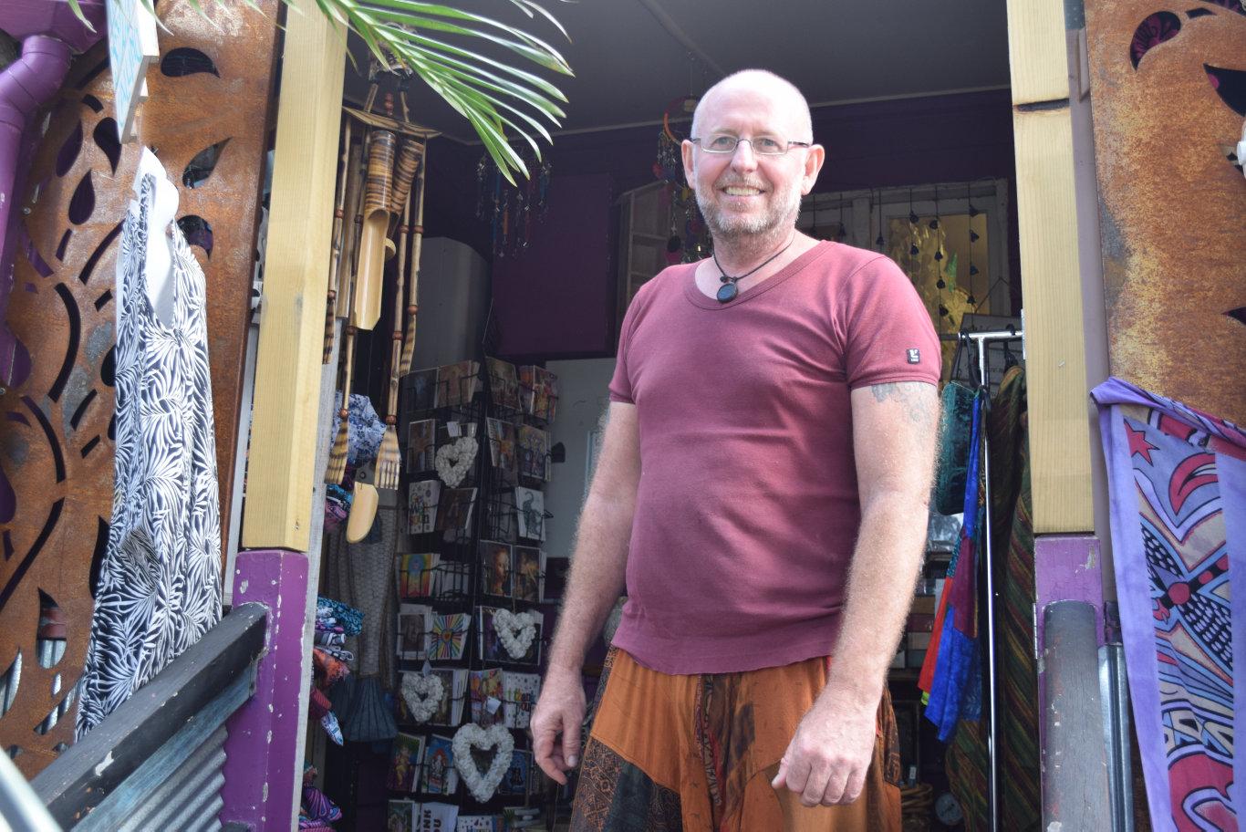 TIARO BUSINESSES: Owner of Hippie Garage in Tiaro, Corey Pickett. Photo: Stuart Fast