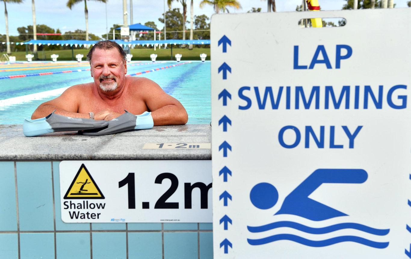 Swimmer Gordon Smith at the Hervey Bay Aquatic Centre.Photo: Alistair Brightman