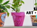 We we show you how to paint, layer, design and seal your very own artwork pot. The perfect home for you plant babies.