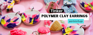 Learn how to roll, sculpt, build slabs and create your own polymer clay earrings.