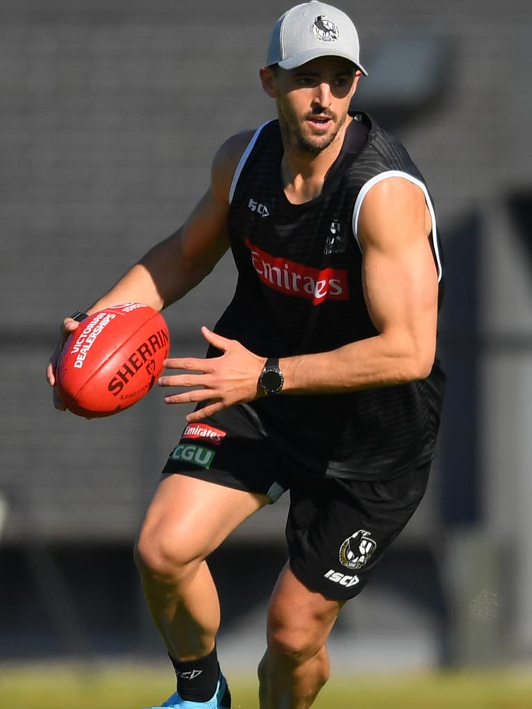 Scott Pendlebury hits the track. Picture: Getty