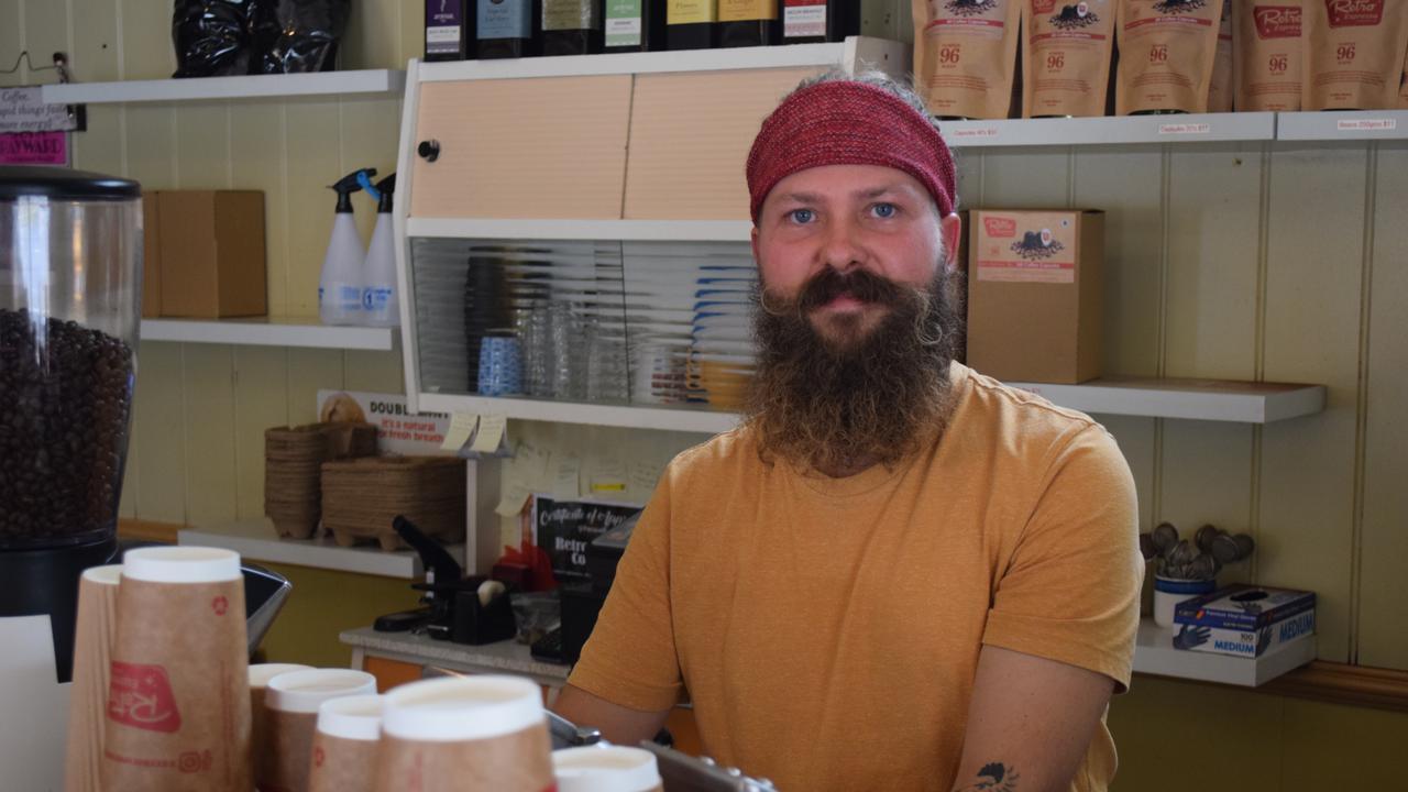 TIARO BUSINESSES: Manager of Retro Espresso Tiaro, Thor Olsen. Photo: Stuart Fast