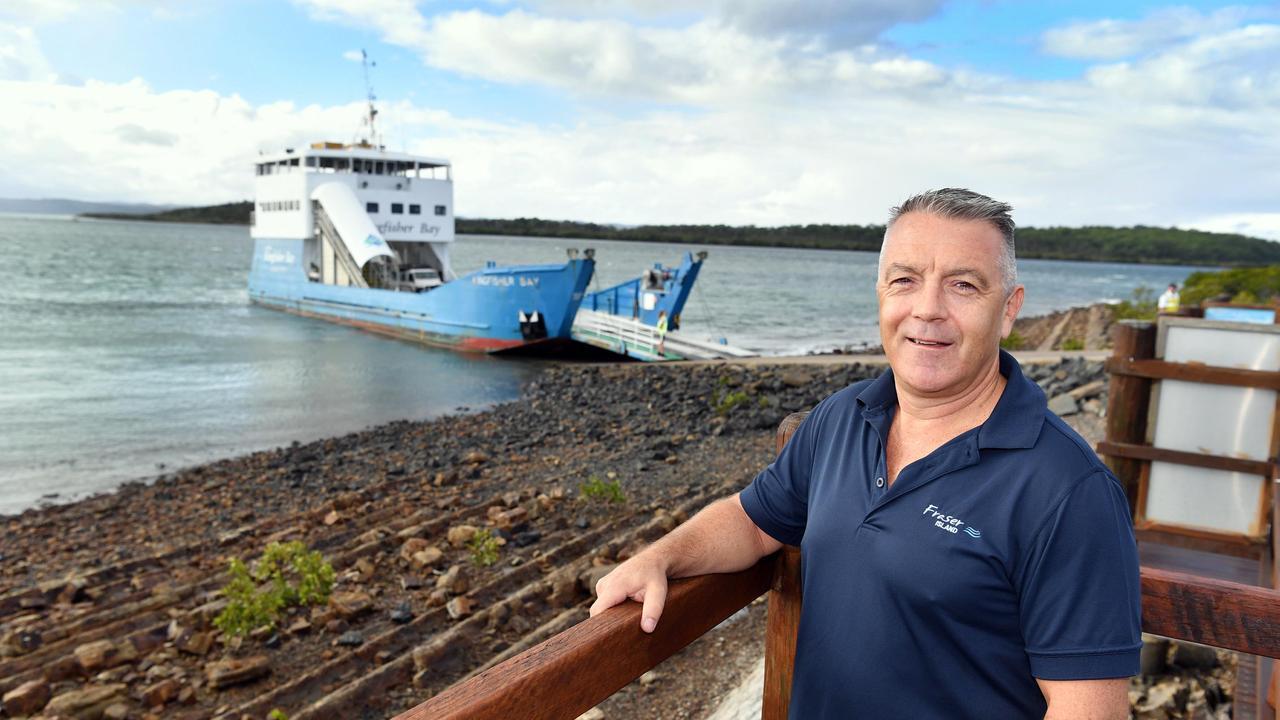 David Hay (G/Mgr. Kingfisher Bay Resort) at the Fraser Island barge landing at River Heads.Photo: Alistair Brightman