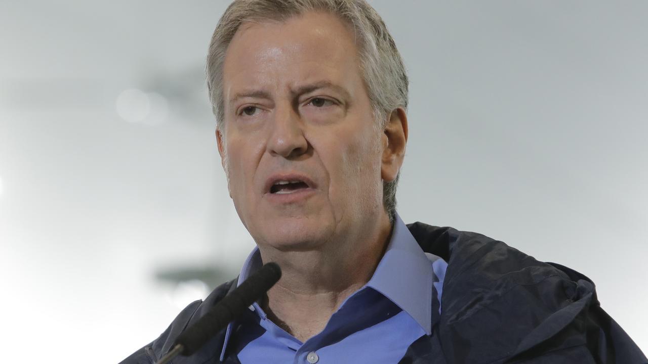 New York City Mayor Bill de Blasio. Picture: Frank Franklin II/AP